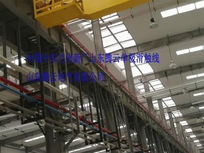 中国中车兰州新厂车间内新型单极滑触线